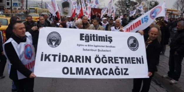 Türk Eğitim-Sen ve Eğitim Sen üyeleri iş bıraktı