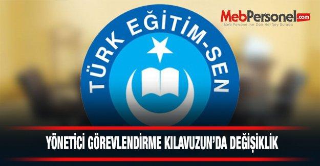 """Türk Eğitim-Sen: """"Yönetici Görevlendirme Kılavuzununun 15. Maddesinin İptalini İstedik"""""""
