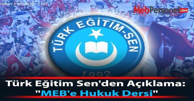 Türk Eğitim Sen'den Açıklama: