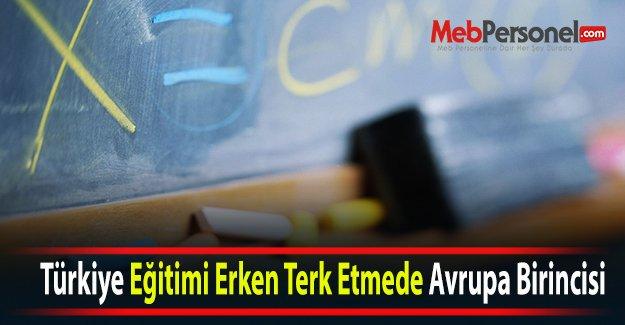 Türkiye Eğitimi Erken Terk Etmede Avrupa Birincisi