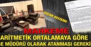 """Mahkemeden Şube Müdürlüğü Kadrosuna Aritmetik Ortalamaya Göre Atama Yapılması Gerekirdi"""" Kararı"""