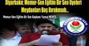 Diyarbakır, Memur-Sen Eğitim Bir Sen Üyeleri Meydanları Boş Bırakmadı...