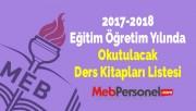 2017-2018 Eğitim Öğretim Yılında Okutulacak Ders Kitapları Listesi | MEB Personel