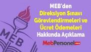 MEB'den Direksiyon Sınavı Görevlendirmeleri ve Ücret Ödemeleri Hakkında Açıklama