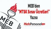 MEB'den ''MTSK Sınav Ücretleri'' Yazısı