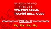 2018 Yönetici Atama Takvimi MEB Tarafından Açıklandı (GÜNCELLEME)