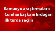 Kamuoyu araştırmaları: Cumhurbaşkanı Erdoğan ilk turda seçilir