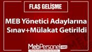 MEB Yönetici Adaylarına Sınav+Mülakat Getirildi