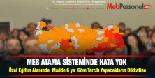 MEB ATAMA SİSTEMİNDE HATA YOK
