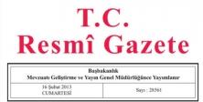 28 Ocak 2015 Tarihli ve 29250 Sayılı Resmî Gazete