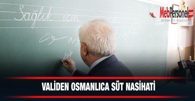 Validen Osmanlıca Süt Nasihati