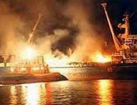 Yanan kargo gemisinin kaptanı kurtarıldı