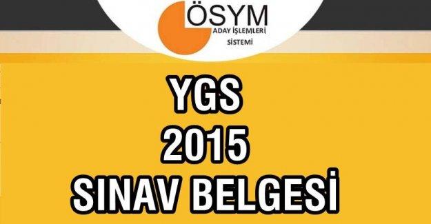 2015 YGS  Giriş Yerleri Belgesi  Açıklandı Mı? (15 Mart 2015)