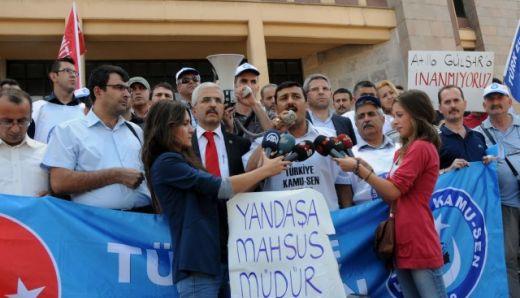 YÖNETİCİ ATAMALARINDAKİ MÜLAKAT SINAVLARI PROTESTO EDİLDİ