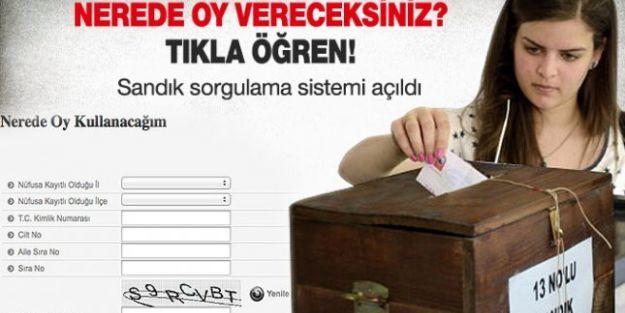 YSK Seçmen Sorgulama 30 Mart Yerel Seçim