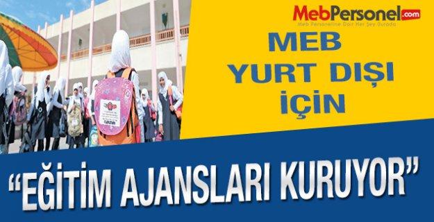 Yurt dışı için MEB destekli sivil Eğitim Ajansı kuruluyor