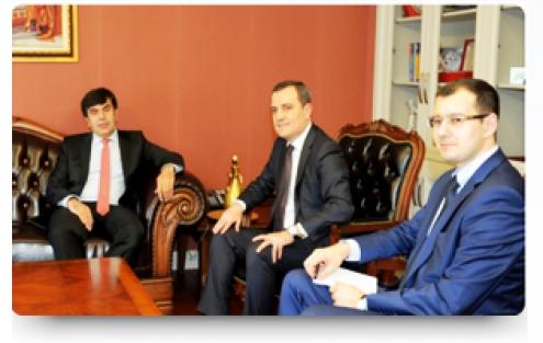 Yusuf TEKİN Azerbaycan Eğitim Bakanı Yardımcısı Ceyhun Bayramov´u Makamında Kabul Etti