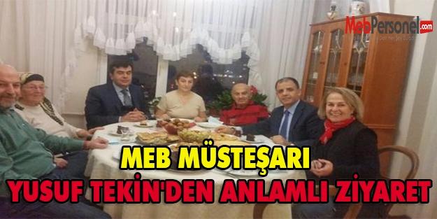 YUSUF TEKİN'DEN ANLAMLI ZİYARET