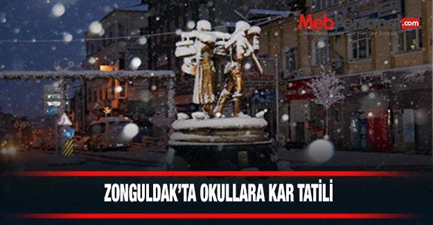 Zonguldak'ta okullar tatil edildi