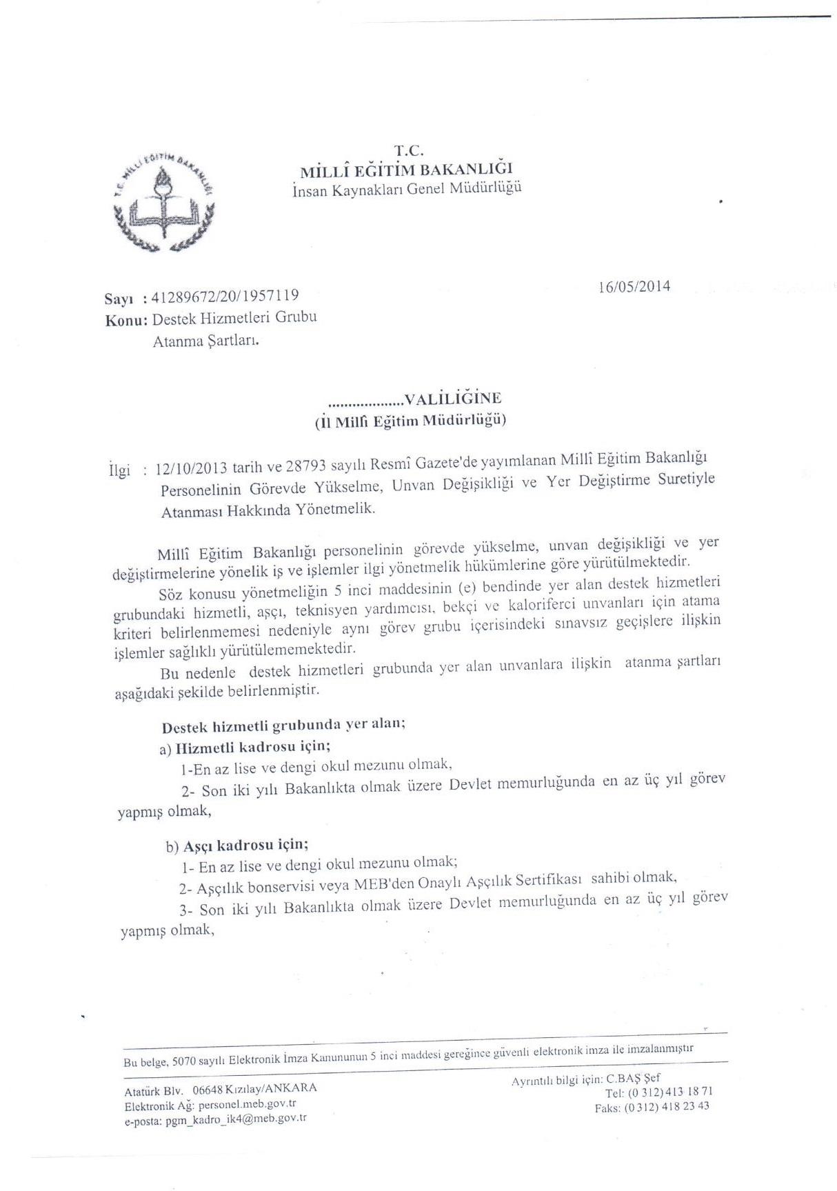 MEB Sınavsız Atama Şartları Belirlendi.