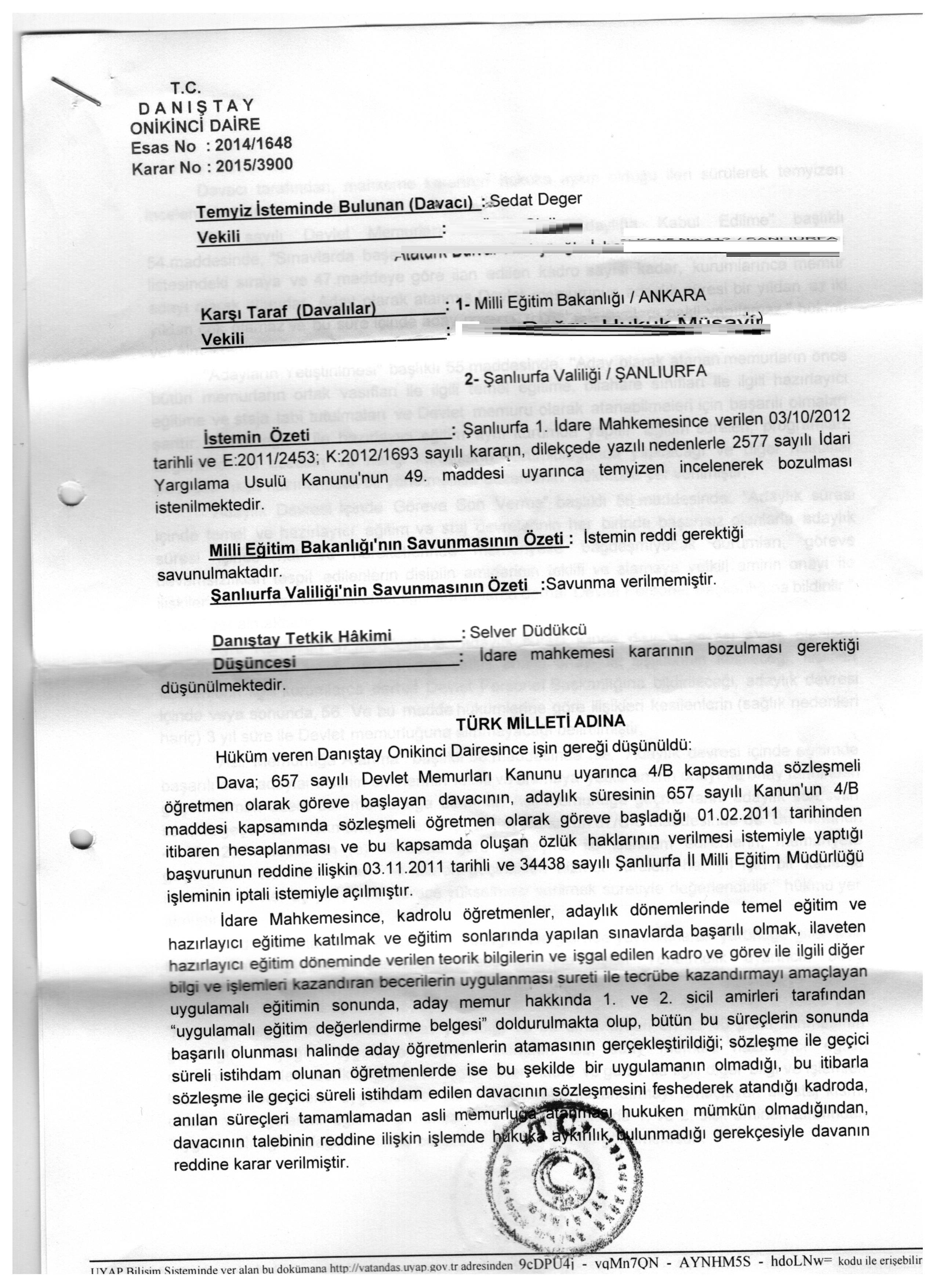 idare mahkemesi dava açma süresi 2015